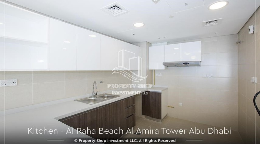 Kitchen-Best price for 3BR  Apartment Al Raha Beach