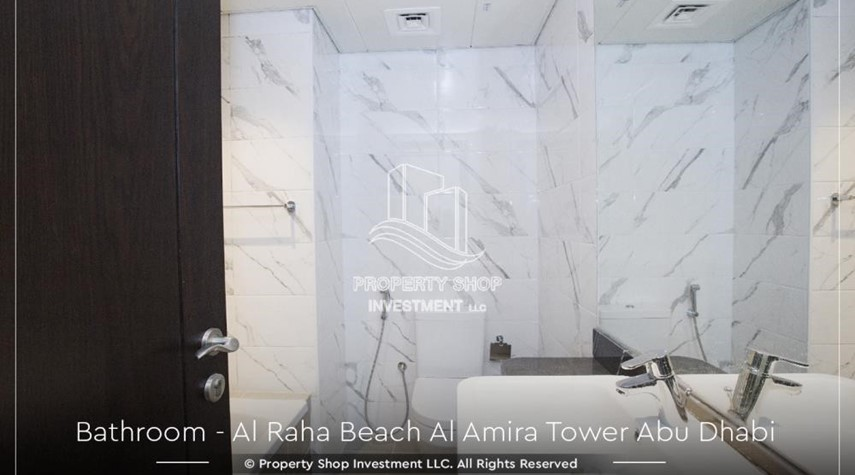 Bathroom-Best price for 3BR  Apartment Al Raha Beach