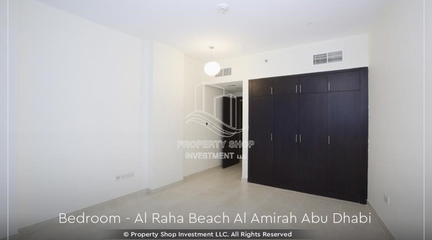 Bedroom-Brand New 2BR + Maid's room apartment in Al Raha Beach