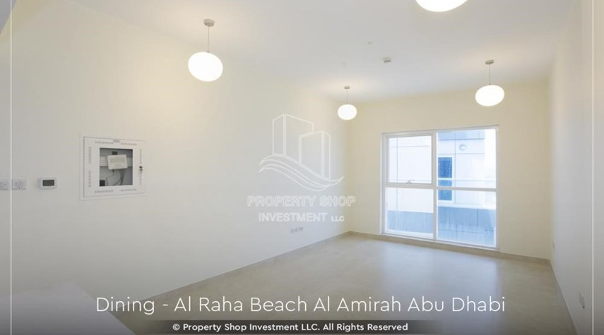 Living Room-Brand New 2BR + Maid's room apartment in Al Raha Beach
