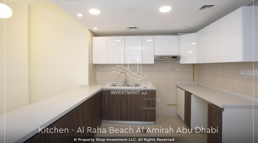 Kitchen-Brand New 2BR + Maid's room apartment in Al Raha Beach