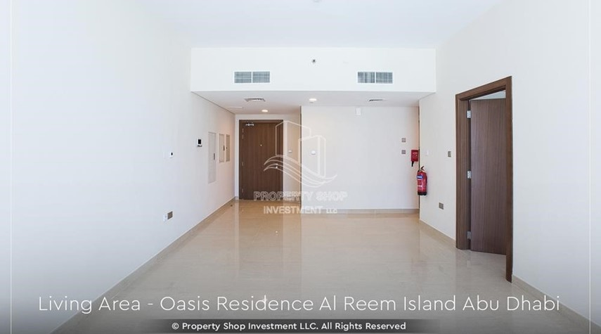 Living Room-Brand New 1 Bedroom with Stunning Views in Oasis Residence.