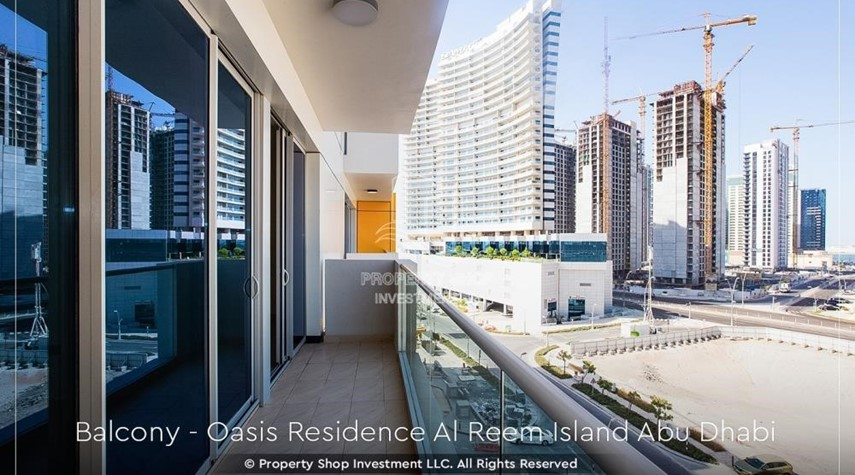 Balcony-Brand New 1 Bedroom with Stunning Views in Oasis Residence.
