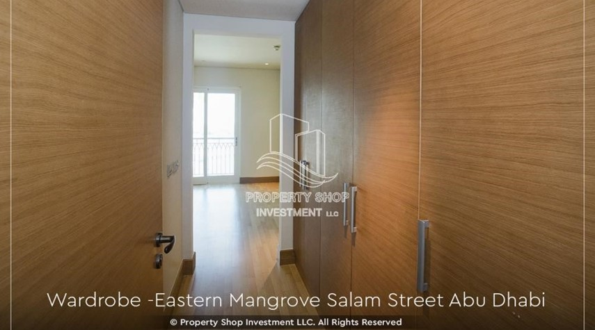 Built in Wardrobe-Elegant, Stunning 1BR Apartment with Mangrove View, Pool, Gym
