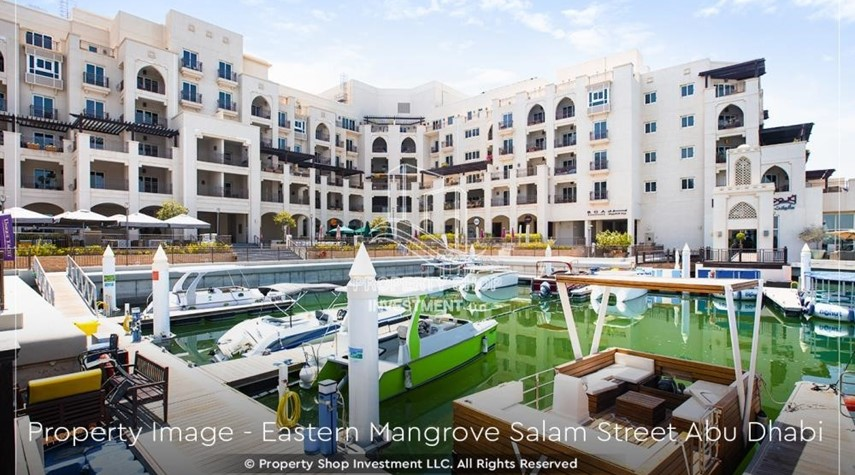 Property-Elegant, Stunning 1BR Apartment with Mangrove View, Pool, Gym