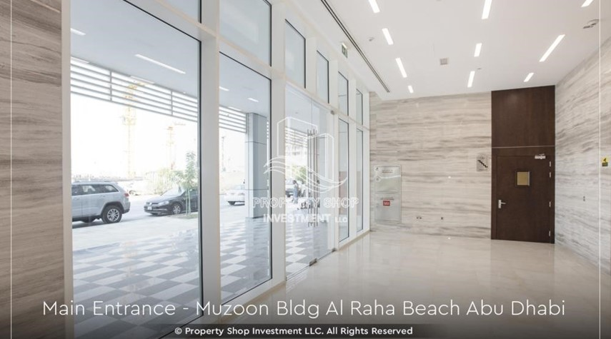 External Entrance-Affordable 2BR apartment in Raha Beach