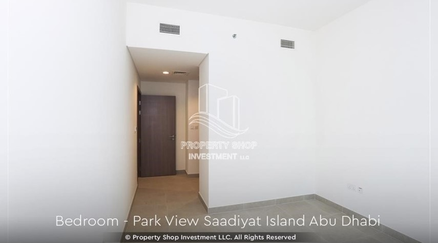 Bedroom-Available for viewing and with High Returns! Own a brand new Apartment in Park View Saadiyat.