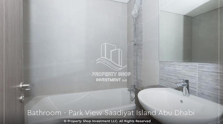 Bathroom-Available for viewing and with High Returns! Own a brand new Apartment in Park View Saadiyat.