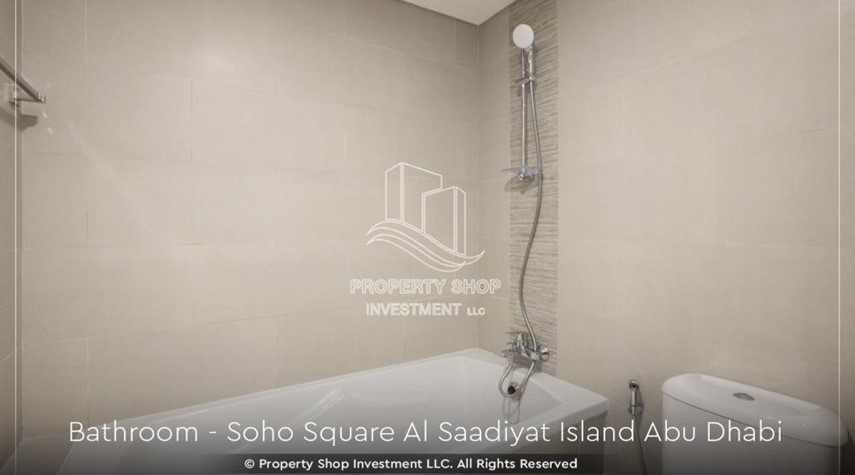 Bathroom-High ROI and 10% Cash Back. Own a brand new Apartment in Soho Square.