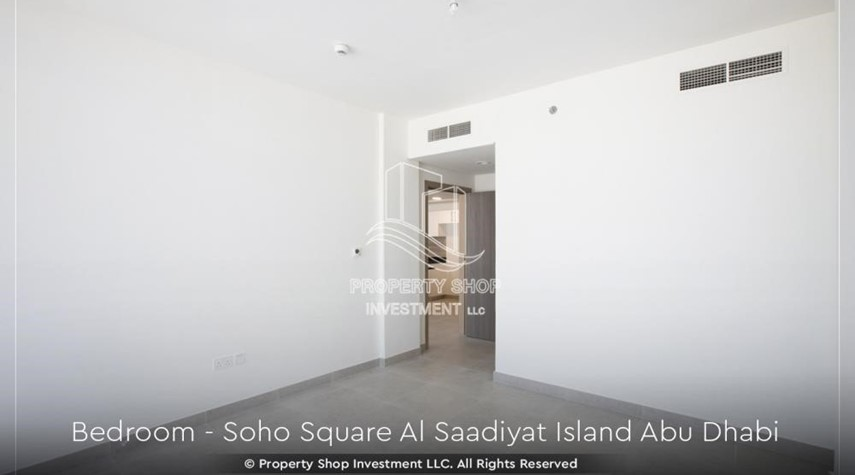 Bedroom-High ROI and 10% Cash Back. Own a brand new Apartment in Soho Square.