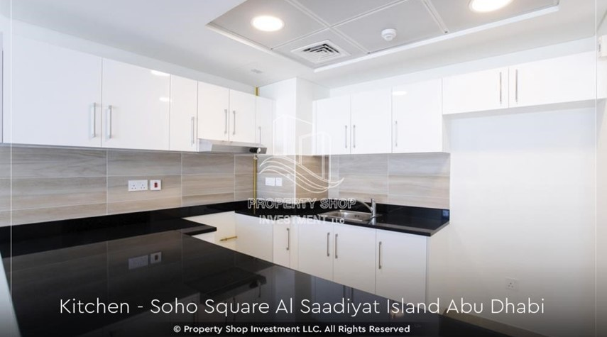 Kitchen-High ROI and 10% Cash Back. Own a brand new Apartment in Soho Square.
