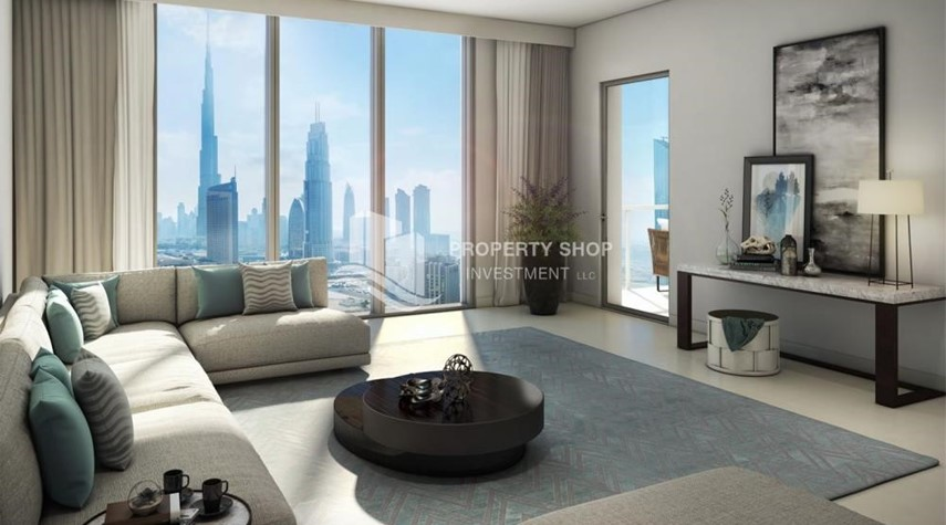 Living Room-A Future Home with your family in Dubai Downtown Views II.