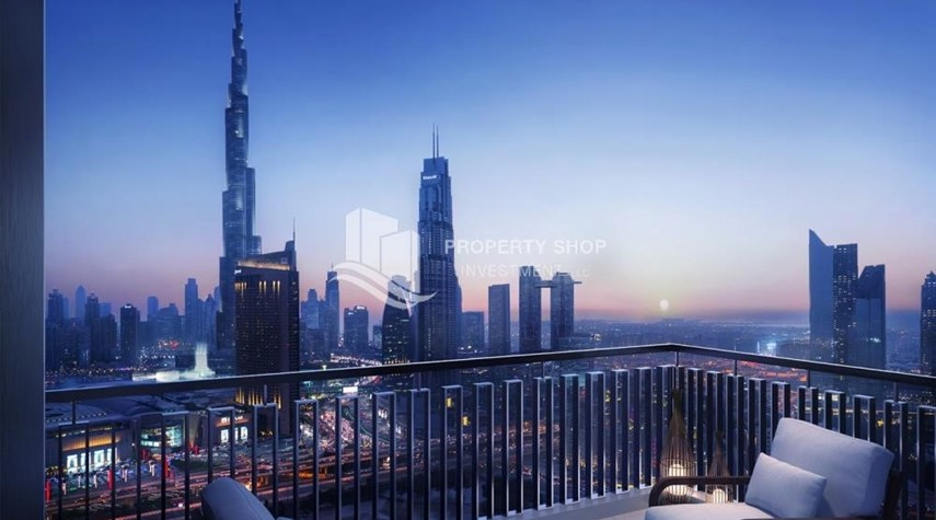 Balcony-A Future Home with your family in Dubai Downtown Views II.