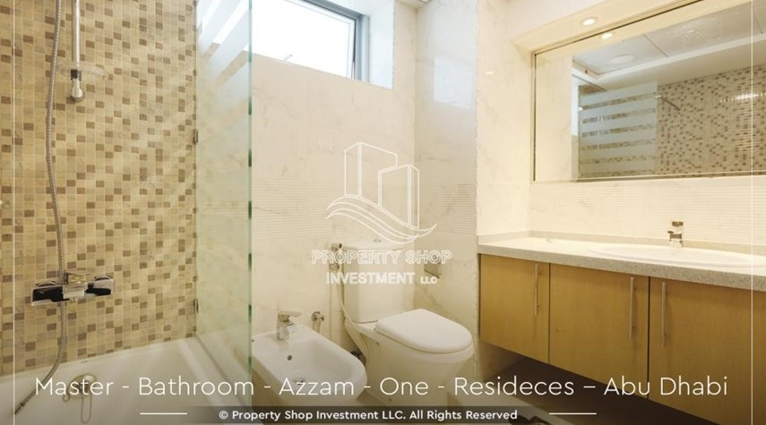 Master Bathroom-Well Maintained, 4BR+M Apartment with Gym, Pool, Sauna, Steam Room