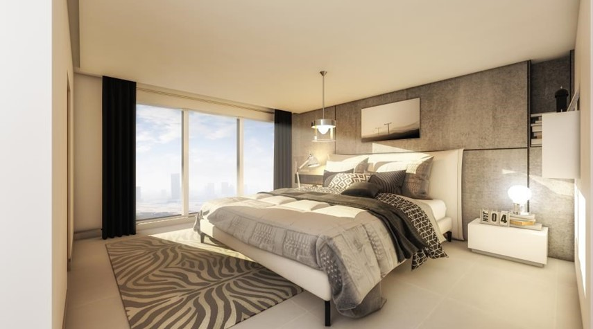 Master Bedroom-Explore Comfort in a Spacious 2+1BR Overlooking Mangroves, Reem Central Park & Facilities