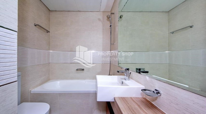 Bathroom-High floor Unit with City view.