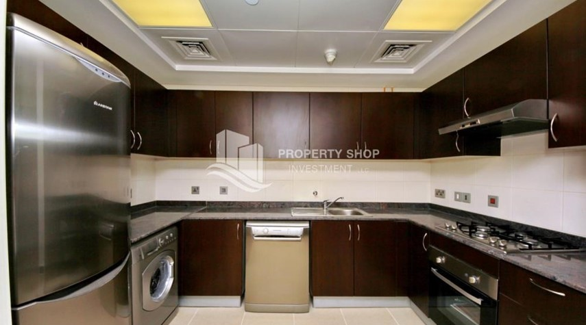 Kitchen-2br, Living in Luxurious Mangrove Place, Al Reem Island