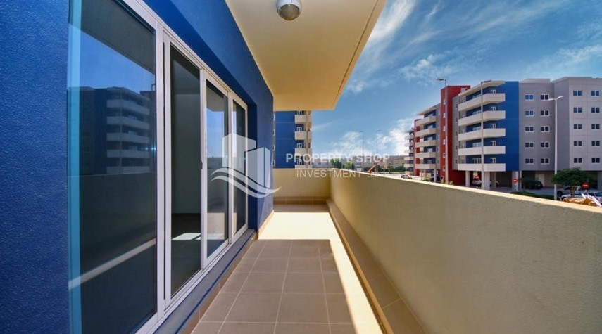 Balcony-2BR Apt with Balcony and Storage, street view, available for rent Now
