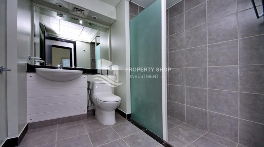 Bathroom-2BR Apt with Balcony and Storage, street view, available for rent Now