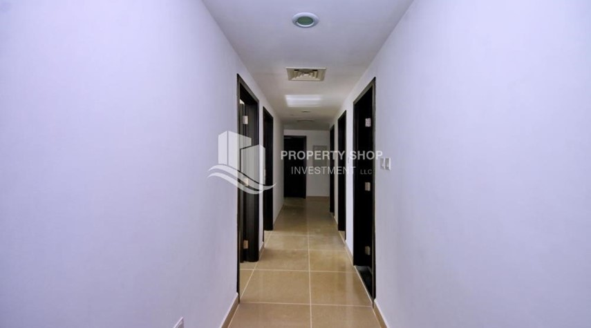 Corridor-2BR Apt with Balcony and Storage, street view, available for rent Now