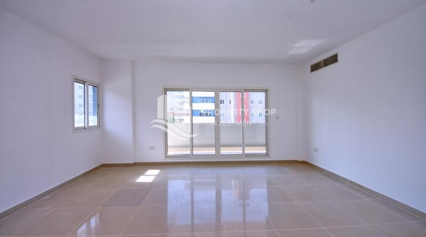 Living Room-2BR Apt with Balcony and Storage, street view, available for rent Now