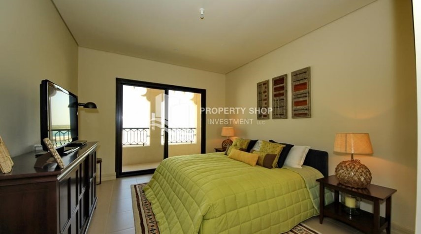 Bedroom-2BR Apt on Low Floor with street view in Saadiyat Island!