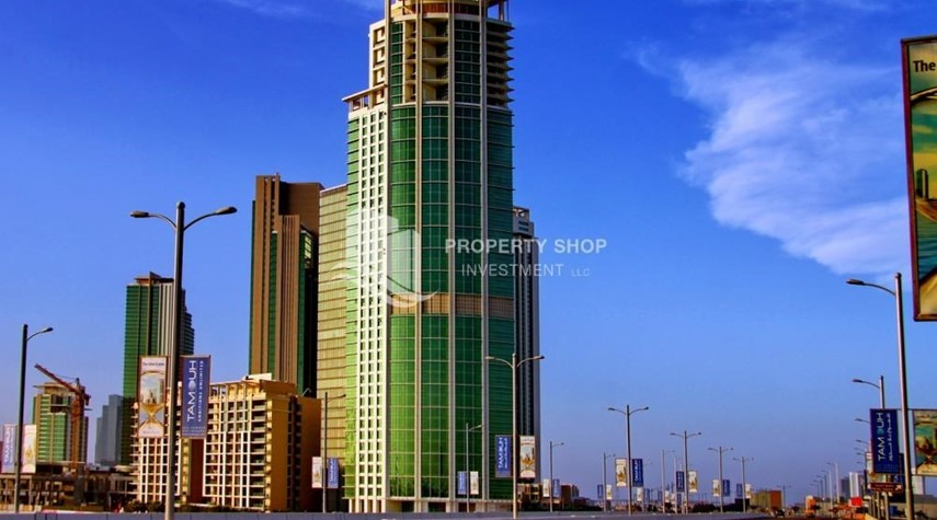 Property-Stunning 1BR in High Floor with panoramic views of Al Reem community.