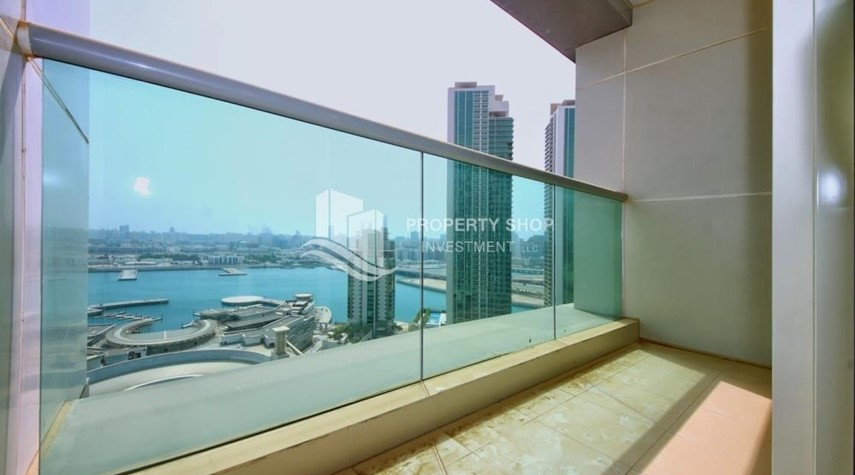 Balcony-Low floor 1BR Apt with Sea view.
