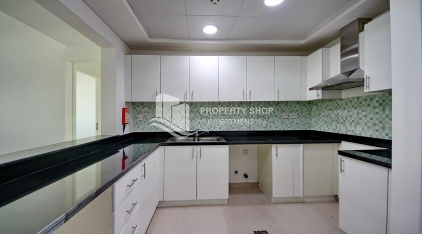 Kitchen-Spacious Terrace Apt with walk in closet.
