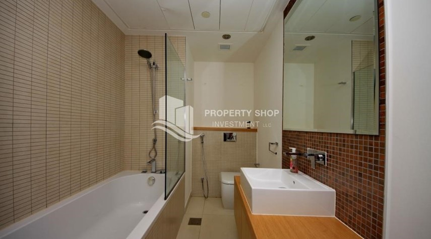 Bathroom- 2 bedrooms with an  amazing view  in al bandar for sale