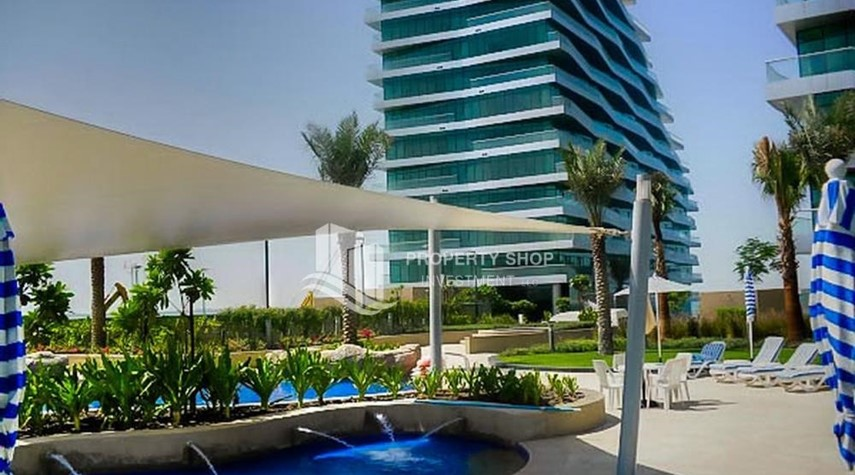 Facilities- 2 bedrooms with an  amazing view  in al bandar for sale