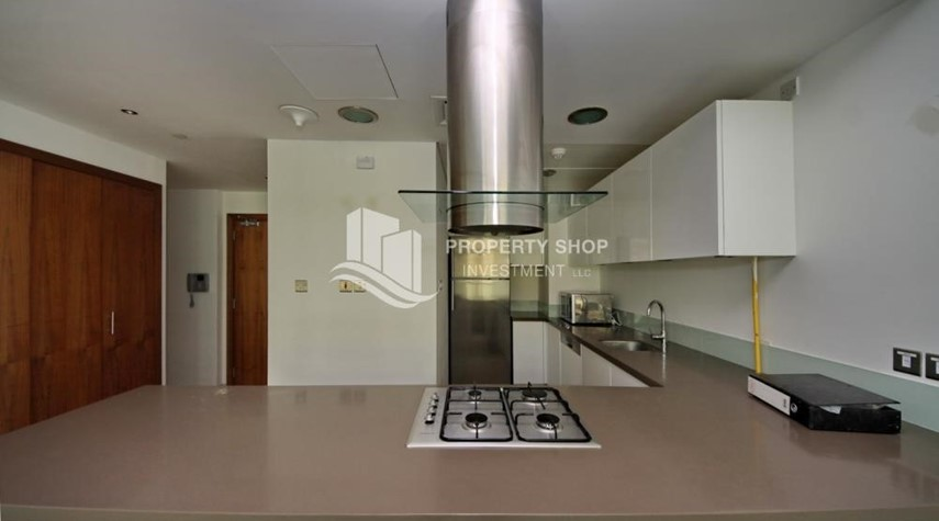 Kitchen- 2 bedrooms with an  amazing view  in al bandar for sale