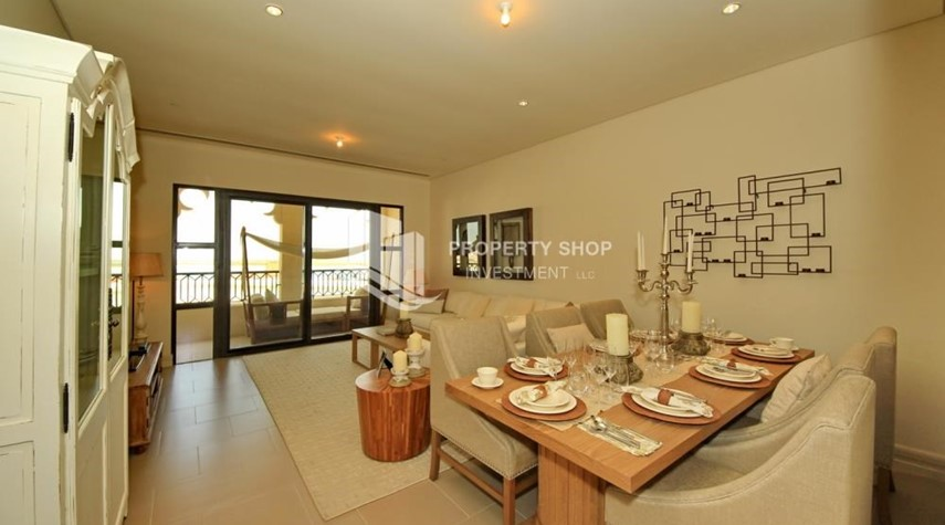 Dining Room-Zero Commission! Stunning 2BR+2 Balcony Apt. Available in Saadiyat Beach Residences!