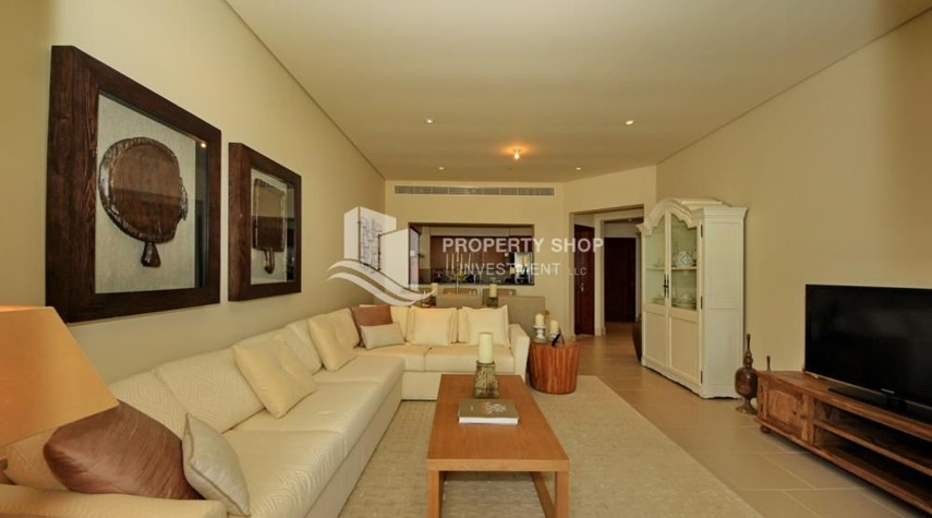 Living Room-Zero Commission! Stunning 2BR+2 Balcony Apt. Available in Saadiyat Beach Residences!