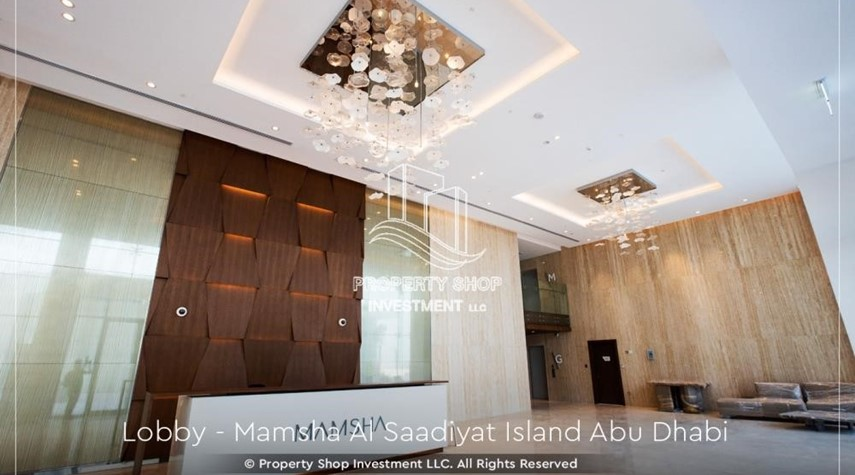 Lobby-4% Discount  on a Brand new investment opportunity in Mamsha Al Saadiyat. Call PSI to get details now.