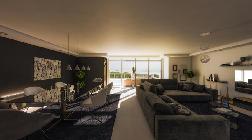 Living Room-Explore Comfort in a Spacious 2+1BR Overlooking Mangroves, Reem Central Park & Facilities
