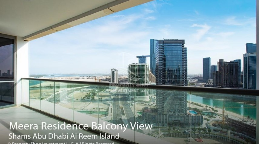 Balcony-3+1 apartment (corner unit) in Meera Tower available for rent immediately!