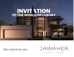 Special invitation for you on Saturday 12 September from 10 am to 6 pm to discover luxury limited villas in saadiyat island