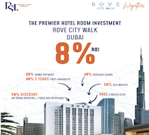 Invest in an interactive and fully integrated project in Dubai Rove City Walk , with 8% ROI